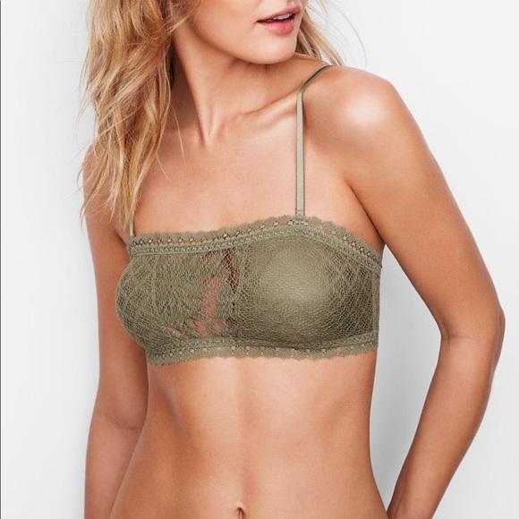 8a995c7adab Victoria s Secret Lace-inset Bandeau Bralette. M 5ac4334ddaa8f6cd2b687fb2